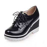 Women's Shoes Patent Leather Wedge Heel Wedges / Comfort / Ankle Strap / Round Toe Oxfords Outdoor / Office