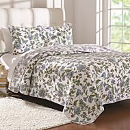 "3PC Quilt Sets Full Cotton Euro Floral Pattern 98""W*90""L"