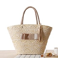 STYLE-CICIWomen-Casual-Straw-Shoulder Bag-Beige / Brown