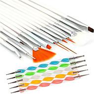 15pcs köröm tervezés festészet rajz toll ecsettel készlet 5db 2-utas pontozás marbleizing toll eszközt