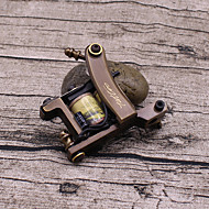 Carved pure copper L secant tattoo machine 12 coil tattoo high-end professional landscape painting
