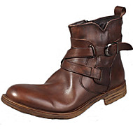 Men's Boots Spring Summer Fall Winter Comfort Nappa Leather Outdoor Office & Career Party & Evening Casual Light Brown