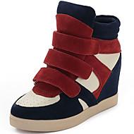 נשים-נעלי ספורט-עור נאפה Leather-קריפרס-שחור כחול-יומיומי ספורט-פלטפורמה