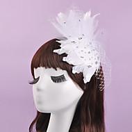 Dame / Blomsterpige Fjær Headpiece-Bryllup / Spesiell Leilighet fascinators 1 Deler 28*17cm