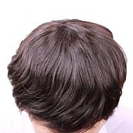 """Vivy 6 """"8"""" * 10 """"menns klærne fulle blonder menneskehår parykker menneskelige mellomlangt hår stiler for fint hår menn hår klærne"""