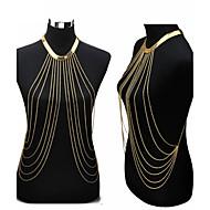 Bijuteria de Corpo/Corrente de Barriga Cadeia corpo / Cadeia de barriga Chapeado Dourado Bikini Dourado 1peça