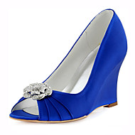 Női-Teletalpú-Esküvői cipők-Magassarkúak-Esküvői / Ruha / Party és Estélyi-Kék / Rózsaszín / Tengerészkék