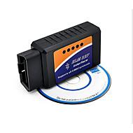 Bluetooth Bluetooth גלאי הרכב OBD2 v2.1 elm327, מד צריכת דלק רכב