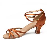 Sapatos de Dança(Preto / Marrom / Prateado) -Feminino-Não Personalizável-Dança do Ventre / Latina / Tênis de Dança / Moderna / Samba /