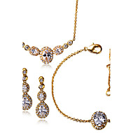 Jewelry Necklaces / Earrings / Bracelets & Bangles Bridal Jewelry Sets Fashionable Wedding / Party / Daily / Casual / N/ACubic Zirconia /