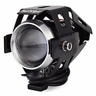 YouOKLight 15W 1200lm 6500K 3-Mode LED Cool White Car Headlamp - Black DC 12~80V