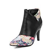 Women's Boots Fall Winter Comfort Leatherette Dress Casual Stiletto Heel Buckle Walking