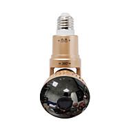 trådlös lampa IP-kamera med roterbar kropp och spegel omslag + fjärrkontroll vit LED-ljus silver