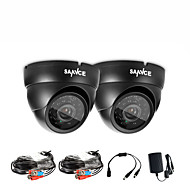 SANNCE®  New AHD 720P Dome Outdoor CCTV Camera Kits Weatherproof Home Security System, 100ft Super Night Vision