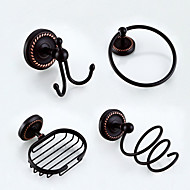 Bathroom Accessory Set / Towel Bar/ Robe Hook / Soap Dish / Shower Basket /Hair Dryer/ Oil Rubbed Bronze /