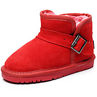 Girls' Shoes Outdoor / Casual Leather / Winter Snow Boots / / Comfort Flat Heel Buckle / Slip-on