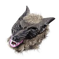 Latex Tier Wolfskopf mit Haarmaske Kostüm Partei scary Halloween