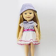 Scharon setzt der 16-Zoll-Puppe Kleidung Prinzessin Kleid Hut Mode, Bekleidung Zubehör drei freie baby blue