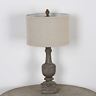 Classic Amercian Industrial Rustic Wooden Table Lamp Decorate for the Bedroom / Dining Room / Hotel Dest Light