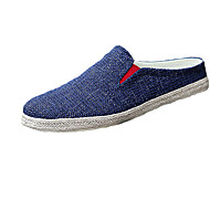Men's Clogs & Mules Spring Fall Synthetic Casual Flat Heel Metallic toe Blue Yellow Gray Royal Blue Walking