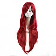 rød farve cosplay syntetiske parykker billige lige parykker mode parykker