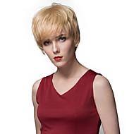 New Layered Short Straight Capless Human Hair Wigs