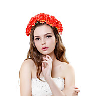 Women's Polyester / Fabric Headpiece-Wedding / Outdoor Handmade Roses Birdal Wreaths 1 Piece