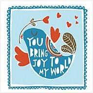 Klidný život / Komiks / Fantazie Tisky v rámu / Set v rámu Wall Art,Dřevo Materiál Černá Včetně pasparty s rámem For Home dekorace rám Art