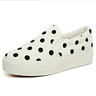 Women's Flats Summer Comfort / Closed Toe Canvas Casual Flat Heel Others Black / Blue / Red / White