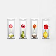 Floreale Adesivi murali Adesivi 3D da parete Adesivi decorativi da parete,PVC Materiale Lavabile / Rimovibile / Riposizionabile