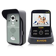 kivos אינטרקום ויזואלי אלחוטי בפעמון בפעמון הדלת kdb300 נעילת המצלמה ניטור מרחוק למניעת גניבות ביתיים