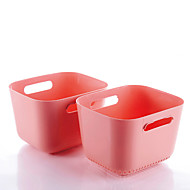 Drain and wash fruits and vegetables basin kitchen pots/Tools/Plastic (2 item)