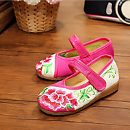 Girl's Flats Spring / Summer / Fall Comfort / Flats Canvas Casual Flat Heel Others Red / Burgundy