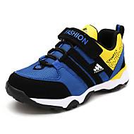 Garçon-Décontracté-Bleu / Gris / Orange-Talon Plat-Confort / Bout Arrondi / Bout Fermé-Sneakers-Tulle / Similicuir