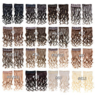 """קליפ של תוספות שיער סינתטי 24inch 60 ס""""מ 120g 5 קליפים קליפ שיער גלי מתולתל סינתטיים 16 צבעים"""