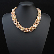 Metal Braided Necklace Big Necklace Exaggerated Accessories