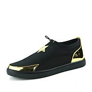 Erkek Mokasen & Bağcıksız Ayakkabılar Rahat Kumaş Bahar Sonbahar Günlük Rahat Düz Topuk Siyah Gümüş Altın