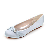 Women's Spring Summer Fall Winter Satin Wedding Casual Party & Evening Flat Heel Rhinestone Black Blue Pink Purple Ivory White Silver