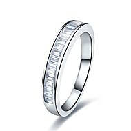 Ringe Imitation Diamant Modisch Hochzeit Schmuck Sterling Silber / Platiert Damen Bandringe 1 Stück,5 / 6 / 7 / 8 / 9 / 8½ / 9½ / 4