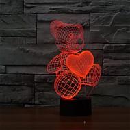 die Karikatur nette Herzbärenform LED-Lampe 3d Baby Nachtlicht