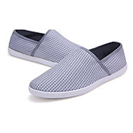 Men's Shoes  / Linen Casual Flats Casual Walking Flat Heel Others Brown / White / Gray