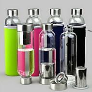 550ml com filtros de chá copo de vidro transparente (copo define cor aleatória)
