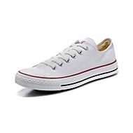 Extérieure-Blanc-Talon Plat-Bout Arrondi-Sneakers-Toile