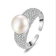 Široké prsteny Perly Zirkon Módní Nastavitelná Rozkošný Šperky Svatební Párty Denní Ležérní 1ks
