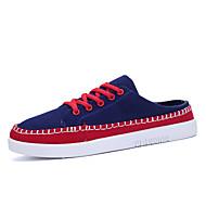 ανδρικά παπούτσια καμβά εξωτερική loafers υπαίθρια περπάτημα επίπεδη άλλους τακούνι μπλε / κίτρινο / κόκκινο