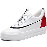 נשים-נעלי ספורט-עור פטנט-קריפרס-שחור לבן-יומיומי ספורט-עקב שטוח