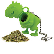 1kpl silikoni dinosaurus muoto tee infuser irtolehti siivilä kasviperäisten silikoni suodatin hajotin