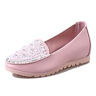 Sko-PU-Flat hæl-Komfort-Loafers og Slip-ons-Fritid-Blå / Rosa / Hvit