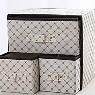 קופסאות אחסון PU עור / סיליקון / סיבי פחמן עםמאפיין הוא עם מכסה , ל תחתונים / בד