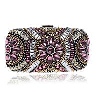 L.WEST Women's The Elegant Luxury Handmade Beaded Evening Bag